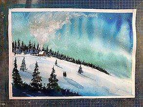 Obrazy - Zimná rozprávka obraz - 10162184_