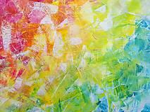 Obrazy - Zamrznutá v čase - XL pestrofarebný abstrakt - 10162755_