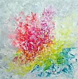 Obrazy - Zamrznutá v čase - XL pestrofarebný abstrakt - 10162757_