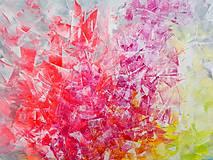 Obrazy - Zamrznutá v čase - XL pestrofarebný abstrakt - 10162758_
