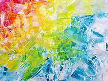 Obrazy - Zamrznutá v čase - XL pestrofarebný abstrakt - 10162759_