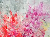 Obrazy - Zamrznutá v čase - XL pestrofarebný abstrakt - 10162761_
