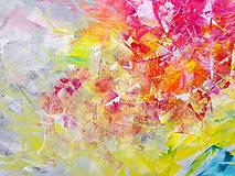 Obrazy - Zamrznutá v čase - XL pestrofarebný abstrakt - 10162762_