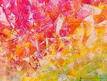 Obrazy - Zamrznutá v čase - XL pestrofarebný abstrakt - 10162763_