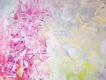Obrazy - Zamrznutá v čase - XL pestrofarebný abstrakt - 10162764_