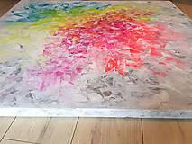 Obrazy - Zamrznutá v čase - XL pestrofarebný abstrakt - 10162765_