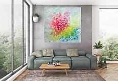 Zamrznutá v čase - XL pestrofarebný abstrakt