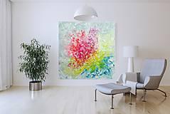 Obrazy - Zamrznutá v čase - XL pestrofarebný abstrakt - 10162767_