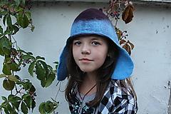 Čiapky - Čiapka modrá škriatok... - 10163987_