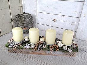 Svietidlá a sviečky - Adventný svietnik  (Zelená) - 10162305_