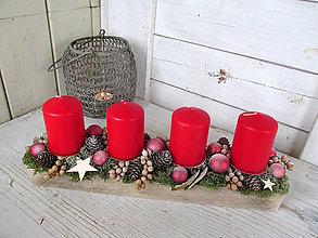 Svietidlá a sviečky - Adventný svietnik - 10162413_