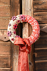 Dekorácie - Vianočný venček na dvere - 10164139_