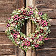 Dekorácie - Vianočný veniec zo živej čečiny - 10162293_