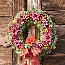 Dekorácie - Vianočný venček zo živej jedličky - 10164090_