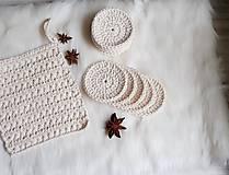 Úžitkový textil - Odličovacie tampóny  (Béžová) - 10163323_