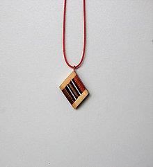 Náhrdelníky - Drevený náhrdelník - Trio - 10162932_
