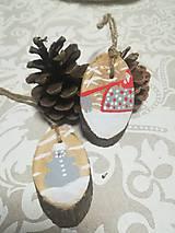 Dekorácie - Sada vianočných ozdob - nature - 10163155_