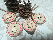 Dekorácie - Sada vianočných ozdob - nature - 10163335_