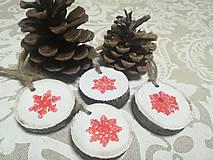 Dekorácie - Sada vianočných ozdob - nature - 10163658_