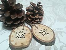 Dekorácie - Sada vianočných ozdob - nature - 10163669_