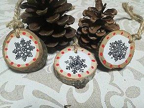 Dekorácie - Sada vianočných ozdob - nature - 10163238_