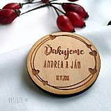 Darčeky pre svadobčanov - Magnetka pre svadobných hostí . Love - 10163278_