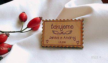 Darčeky pre svadobčanov - Svadobná magnetka . Známka - 10163252_