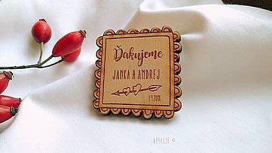Darčeky pre svadobčanov - Svadobné magnetky . Cookie (srdiečka) - 10163266_