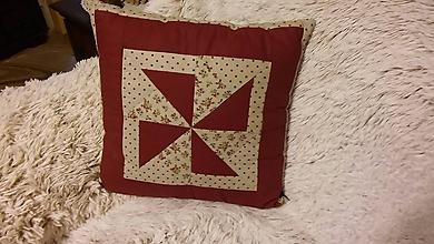 Úžitkový textil - Vankúš Vrtuľka - 10162695_