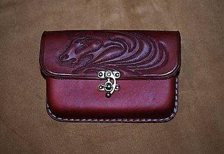Tašky - kožená kapsička na opasok - 10163717_