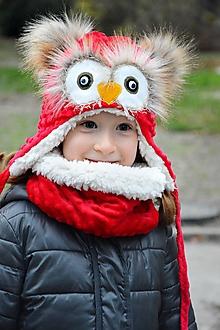 Detské súpravy - Zimy set sovička rôzne odtiene - 10162778_