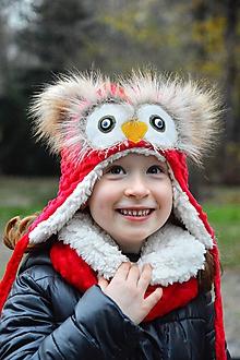 Detské čiapky - Zimná čiapka sovička rôzne odtiene - 10164095_