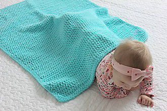 Úžitkový textil - Deka pre bábätko - 10162609_