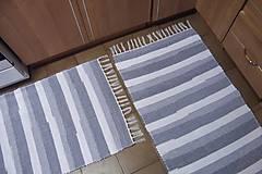 Úžitkový textil - Tkaný koberec bielo-sivý - 10161393_