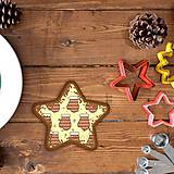 Dekorácie - Vianočné grafické perníky so vzorom rukavice - 10161820_