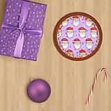 Grafika - Vianočné grafické perníky so vzorom - Santa Claus - 10161897_