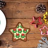 Grafika - Vianočné grafické perníky so vzorom - vianočný veniec - 10161917_