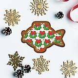 Grafika - Vianočné grafické perníky so vzorom - vianočný veniec - 10161918_