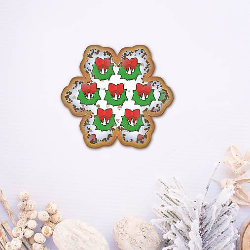Vianočné grafické perníky so vzorom - vianočný veniec