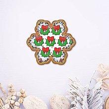 Grafika - Vianočné grafické perníky so vzorom - vianočný veniec - 10161914_