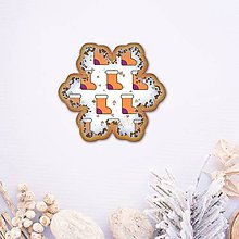 Dekorácie - Vianočné grafické perníky so vzorom - ponožky - 10161984_