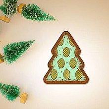 Dekorácie - Vianočné grafické perníky so vzorom - šiška - 10162003_