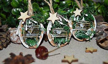 Dekorácie - Vianočné ozdoby - V zasneženom parku - 10164247_