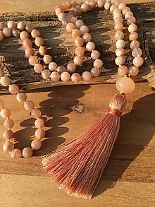 Náhrdelníky - Mala náhrdelník slnečný kameň - 10165265_