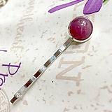 Ozdoby do vlasov - Natural Ruby Silver Hairpin / Sponka do vlasov s pravým rubínom /1221 - 10165705_