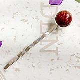Ozdoby do vlasov - Sunstone Silver Hairpin / Sponka do vlasov s rekonštr. slnečným kameňom /1229 - 10165828_