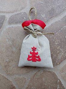 Dekorácie - Vianočné vrecúško 10 - 10165884_