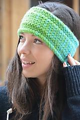 Ozdoby do vlasov - melír do zelená - 10164495_