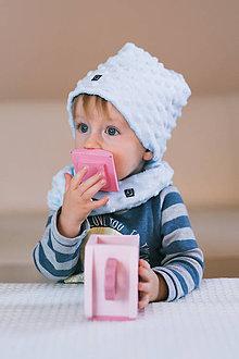 Čiapky - Detská čiapka s nákrčníkom - 10168681_