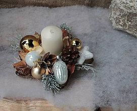 Svietidlá a sviečky - vianočný svietnik _ zlatá hviezdička - 10168799_